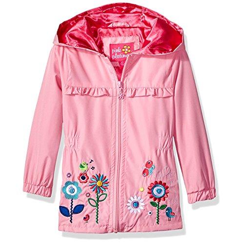 Pink Platinum Baby Girls Garden Applique Windbreaker, Pink, 24M (Toddler Spring Jackets)