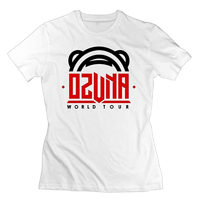 Pmguerxbfhyd Women s Ozuna T-Shirt Cotton Short Sleeve White  Amazon.es  Ropa  y accesorios 82ea0ef2724
