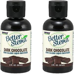 Now Foods BetterStevia Liquid Extract (Dark Chocolate) - 2 fl. oz. 2 Pack