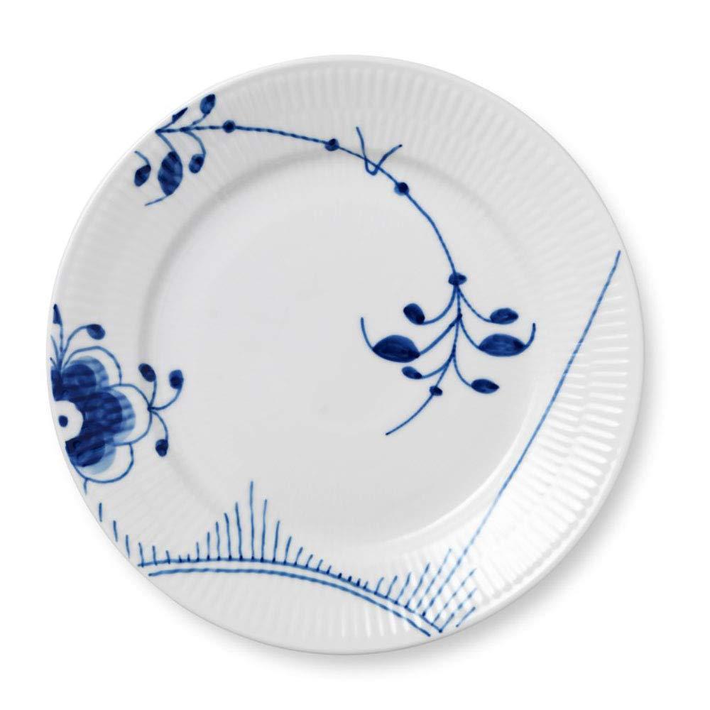Blue Fluted Mega 8.75'' Lunch/Dessert Plate