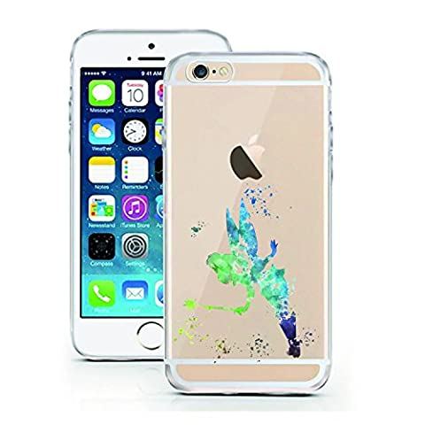 iPhone 5 5S SE Case by licaso for the iPhone 5 5S SE TPU Disney Case Tinkerbell Fairy Elf Peter Pan Clear Protective Cover iphone5 Mobile Phone Sleeve Bumper (iPhone 5 5S SE, Tinkerbell (Disney Iphone 5s Silicone Case)