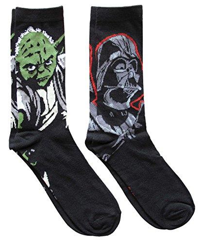 Star Wars Darth Vader Yoda Casual Crew Sock Set Pack of 2