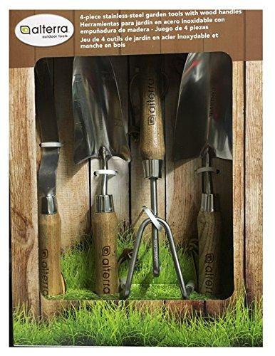 Alterra 4 Piece Stainless Steel Garden Handles
