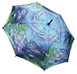 MONET Water Lilies Lg. STICK UMBRELLA auto release