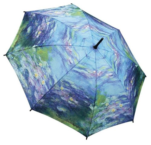 MONET Water Lilies Lg. STICK UMBRELLA auto (Enterprises Water Lily)