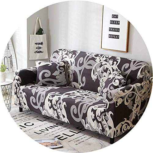 Little Happiness- Stretch Sofa Cover Slipcovers Elastic All-Inclusive Couch Case for Different Shape Sofa Loveseat Chair L-Style Sofa Case 1PC,Color 17,1-seat 90-140cm ()