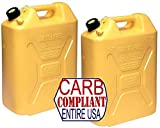 BILLET4X4 (Pair) SCEPTER 5 Gallon POLYETHYLENE DIESEL CANS (DOT, CARB and EPA approved for all 50 states)