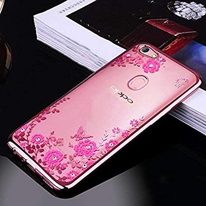 size 40 be8ea a45ab Loxxo® Back Cover for Oppo F9 Pro Shockproof Soft Silicon TPU Transparent  Auora Flower Case Cover for Oppo F9 Pro (Rose Gold)