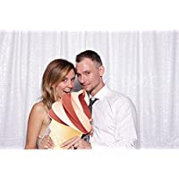 B-COOL 7ftx7ft White sequin wedding backdrop background photo backdrop
