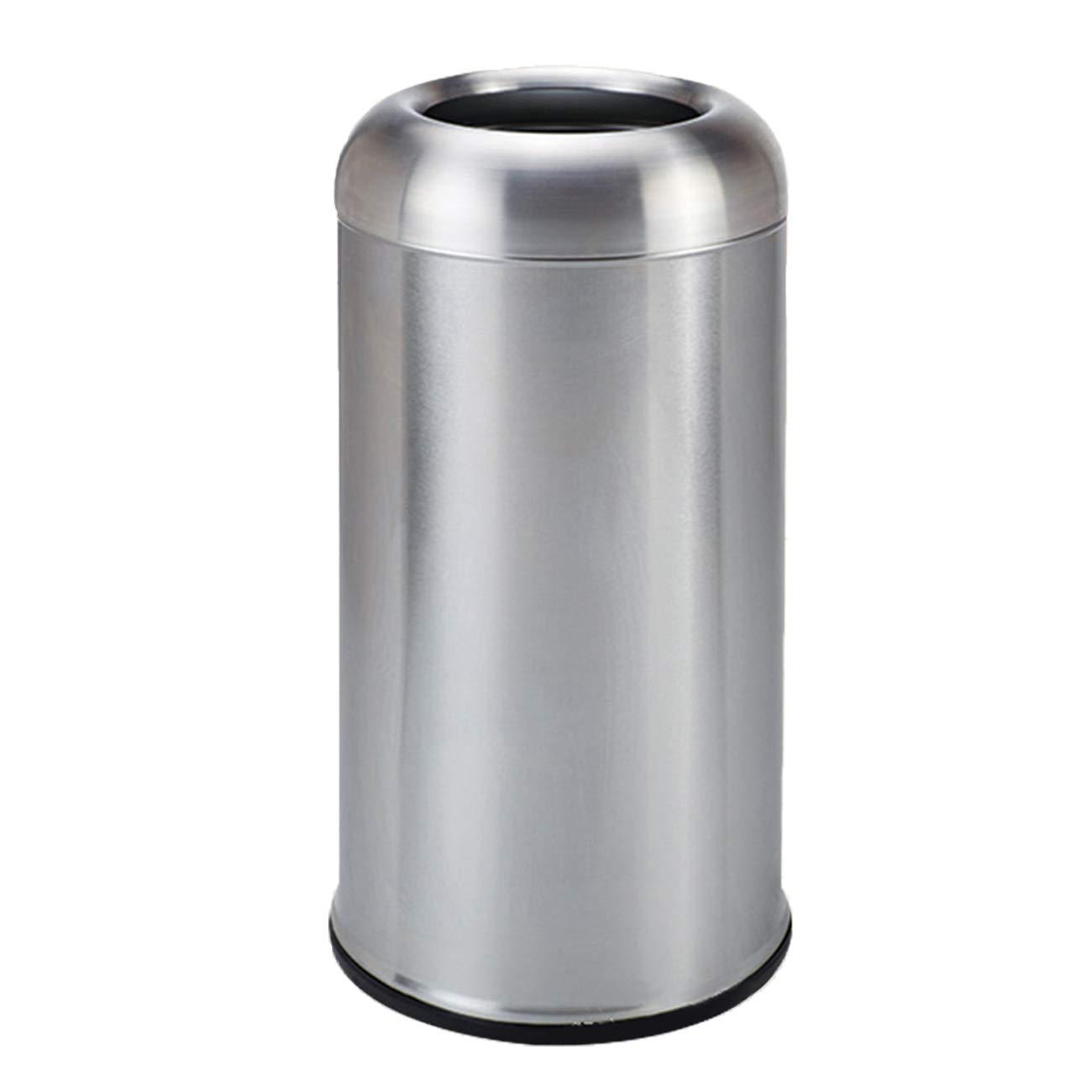 BEAMNOVA 115L / 30 Gal Trash Can Outdoor Indoor Garbage Enclosure with Lid Open Top Inside Cabinet Stainless Steel Industrial Waste Container, Silver
