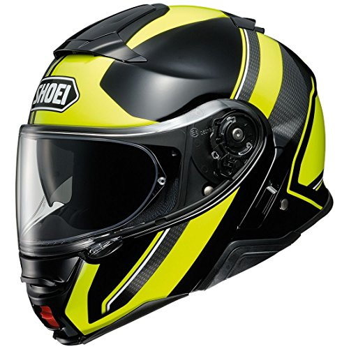 Orange Cycle Parts Full and Open Face 2-in-1 Motorcycle Street Bike Helmet Neotec II AV. SP18 by Shoei (Medium, Excursion TC-3, Black Neon Yellow) -  NTC2EXCSN 3 3 SNL