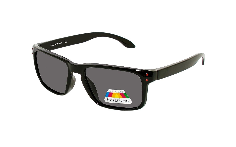 Rainbow Gafas de Sol para Niños Viper / Gafas de Sol para Niños y Niñas 5+ / Polarizadas / 3301 RAINBOW SAFETY 3301Black Blue Mirror