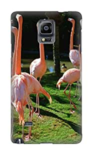 Galaxy Note 4 Scratch-proof Protection Case Cover For Galaxy/ Hot Animal Flamingo Flamingos Bird Animal Phone Case