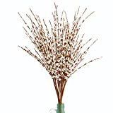 Misswarm 10 Pieces 29.5'' Long of Jasmine Artificial flower Artificial flowers Fake Flower for Wedding Home Office Party Hotel Restaurant patio or Yard Decoration(White)