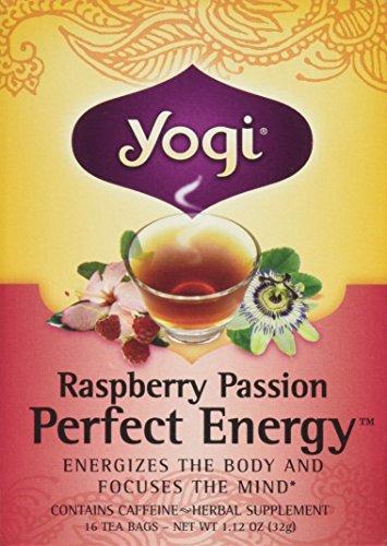 Yogi Tea Raspberry Passion Perfect Energy Tea, 96 Count