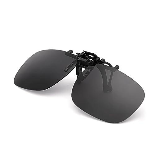 4c3fa2225528 5. Punasi 4-Pack Polarized Clip-on Plastic Sunglasses Lenses for Outdoor  Walking Driving Fishing Cycling – (Night Vision Yellow + Grey + Dark Brown  + Dark ...