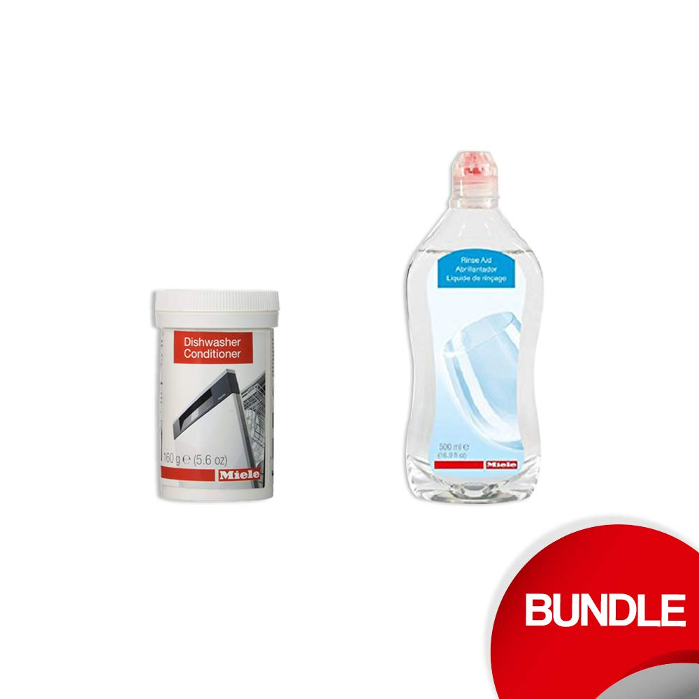 Miele Bundle - Rinse Aid and DishClean NEW Dishwasher Conditioner in Powder form for Dishwashers
