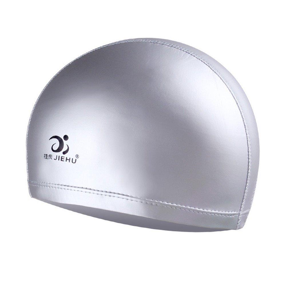 Jshuang &Jiehu Ear Protection Swimming Cap |Silicone Elastic Swimming Cap| Adult Moulded Swim Cap| Silicone Swimming Pool Hat| Plain Protection Ear Swim Cap|Shower Cap|45g,4Colours (Blue)
