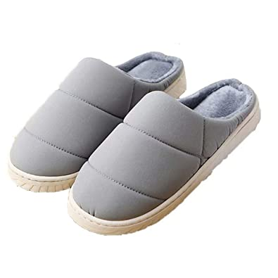 96eee779b8955c Huiaway House Slippers for Women and Men Winter Cotton Slippers Comfort  Exquisite Upper Memory Foam Slippers Slip-on Anti-Skid Sole Indoor Outdoor  in Bulk ...