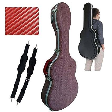 Estuche ABS para Guitarra Clásica, marca Cibeles (Rojo Cuadritos)