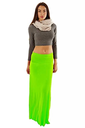 4fa34a383f Dinamit Jeans Women's Rayon Spandex Maxi Skirt at Amazon Women's ...