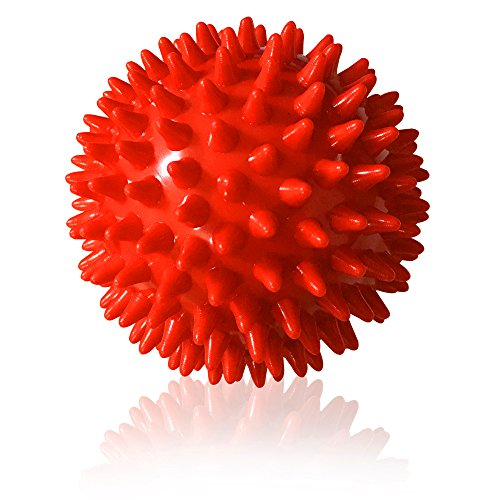Jaguarro Fitness Experts Spiky Massage Ball Ideal Spike Ball for Deep Tissue Foot, Back, Plantar Fasciitis Pain Relief, Myofascial Release Instruction Guide Included