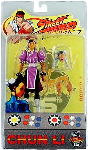 (Street Fighter Round 1 15th Anniversary Chun Li Action Figure (Pink Costume Variant))