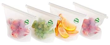 EkoLife - Juego de 4 bolsas de almacenamiento de alimentos ...