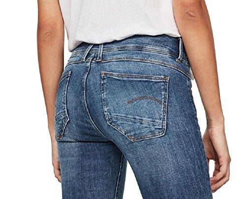 Mid Wmn RAW Lynn Skinny STAR Donna Rinsed 30L G Blu Super 34W Jeans D qI04USw
