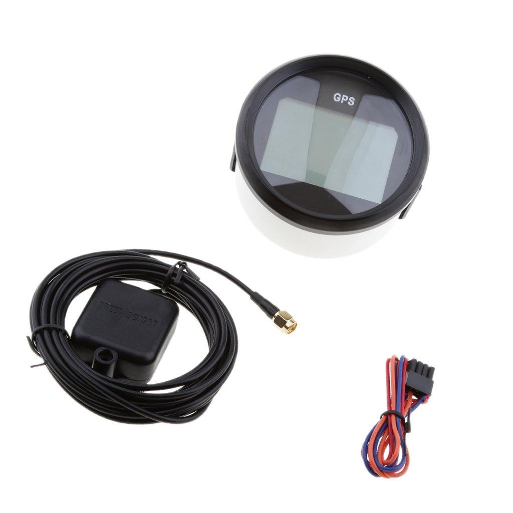 Blesiya Digitale GPS Calibro del Tachimetro Impermeabile IP67 per Auto Moto Camion - Cromo