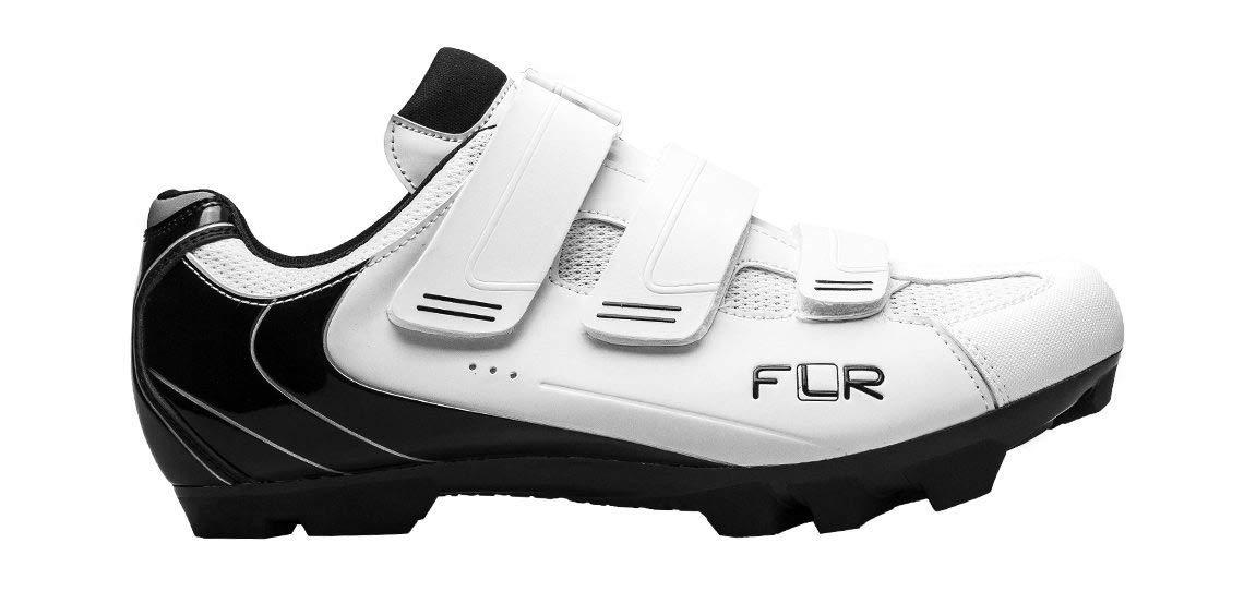 FLR F-55 Herren MTB Schuhe Fahrradschuhe Shimano SPD Klickschuhe weiß atmungsaktiv Mountain Bike