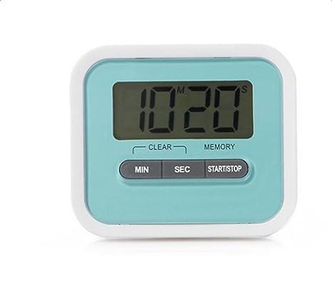 Haodou Temporizador de Cocina Digital Imán Digital Temporizador de Cocina Reloj de Cuenta atrás con Pantalla LCD Grande y Alarma Fuerte (Azul)