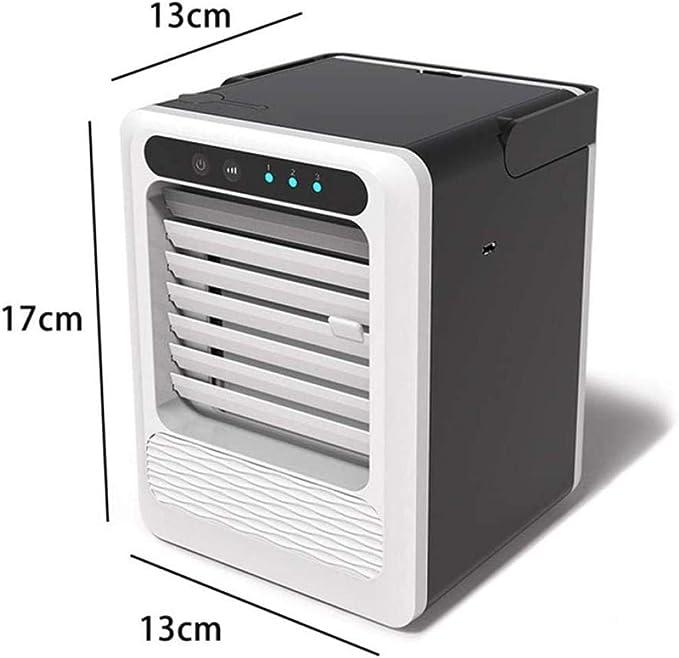 3 en 1 enfriador de aire portátil purificador del humectador del ventilador de refrigeración silencioso USB de escritorio de verano perfecto for el escritorio de oficina, dormitorio, dormitorio y al a: Amazon.es: