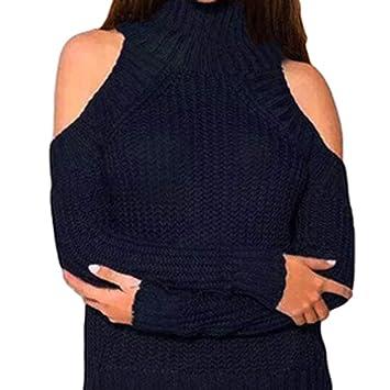 Camisas Mujer,❤ Modaworld Moda Camisa de Manga Larga sólida para Mujer Suéter de
