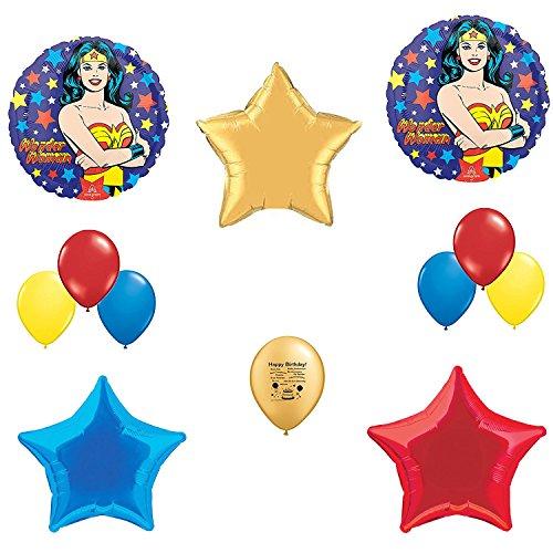 Wonder woman party wonderwoman balloon decoration kit for Balloon decoration kit