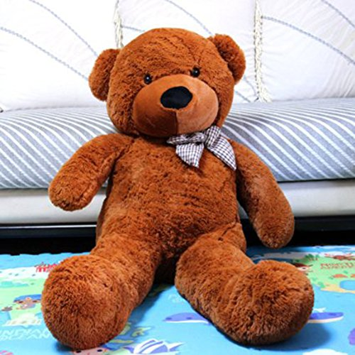 Vercart 4 Foot 47 inch Dark Brown Giant Huge Cuddly Stuffed Animals Plush Teddy Bear Toy Doll]()