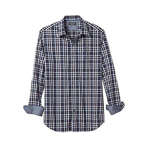 banana-republic-standard-fit-soft-wash-royal-plaid-shirt-medium