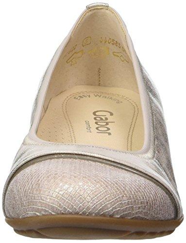 Gabor Women's Comfort Ballet Flats Silver 3DzC3g23