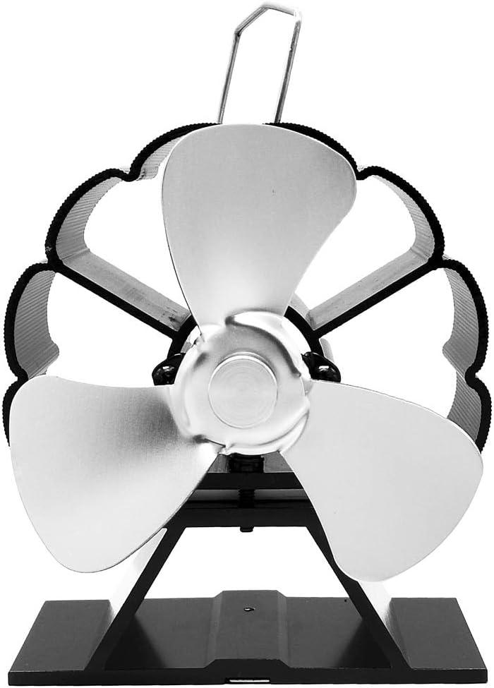 Sqiuxia 3 aspas ventilador de estufa alimentado por calor para ...