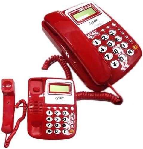 Takestop® Teléfono fijo de mesa kxt025 con teclas grandes Retro ...