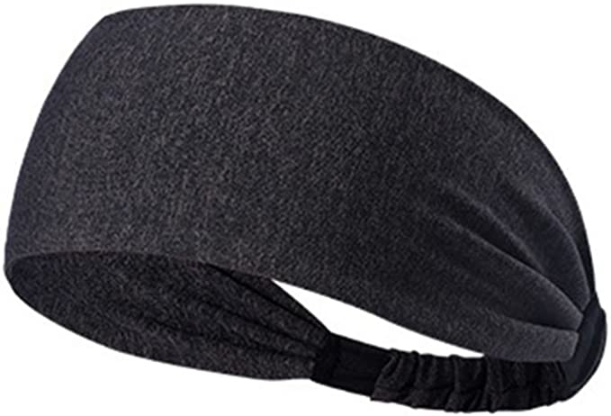 Frcolor Dull Gris Non-Slip Bandeau /Élastique M/èche Turban Headwraps Bandana Bandeau de cheveux sadapte /à tous les Hommes Femmes pour Sport Yoga Running Voyage Fitness
