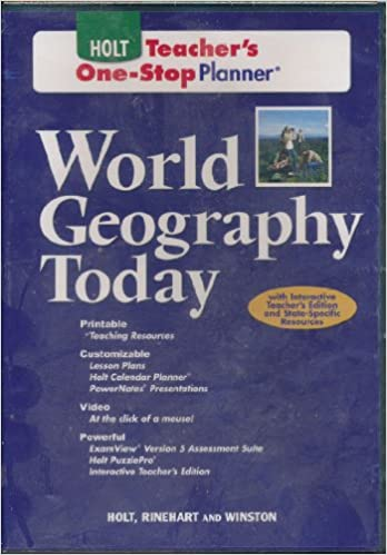Amazon.com: World Geography Today: One-Stop Teacher Edition ...