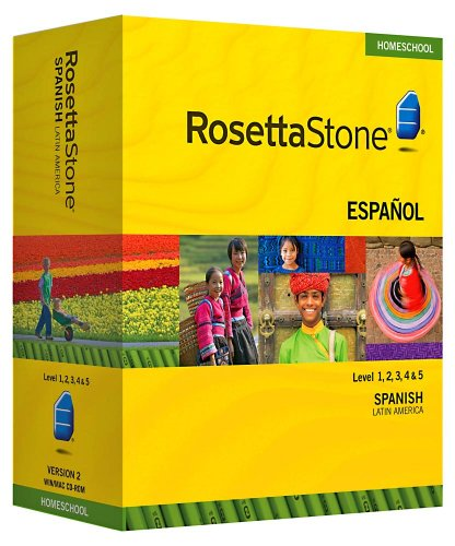 Rosetta Stone Homeschool Spanish (Latin America) Level 1-5 Set including Audio Companion