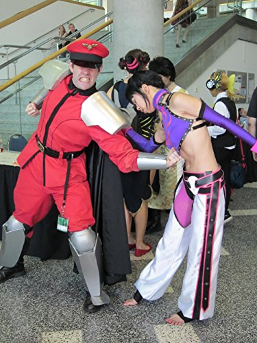 LAMINATED 24x32 Poster: M. Bison & Juri Han cosplayers at FanimeCon 2010-05-30 - Street Fighter M Bison Costume