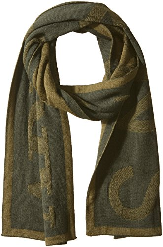 Armani Jeans Men's Woolblended Knit Scarf With Large Print