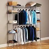 Generic O-8-O-3367-O helf Ro Wardrobe Shelf ardrobe Storage Hanger Clothes r Cloth Closet Organizer torage Rod Garment ortable Portable Rack HX-US5-16Apr11-128