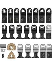 23-delad sågbladssats, oscilleringsverktyg metall, oscillerande multiverktyg sågblad, multifunktionsverktyg blandblad för fina multimaster, Bosch