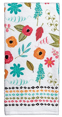 Kay Dee Designs R3930 Home Comfort Terry Towel, 3 Piece (Terry Floral Cloth)