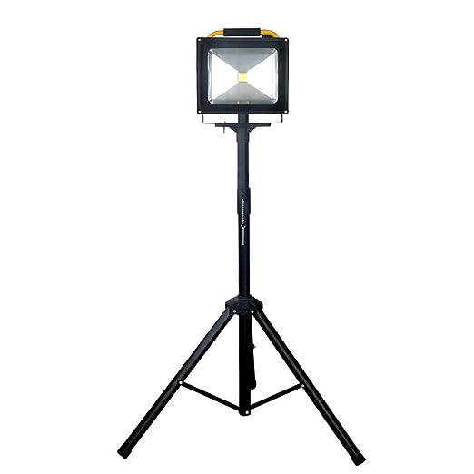 FNHGNG Recargable Portátil Foco LED Obra,Lámpara Proyector Batería ...
