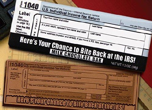 Chocolate Chocolate 313527 Milk chocolate - Bite Back at the IRS 104044; 2011 Chocolate Bar. by Chocolate Chocolate
